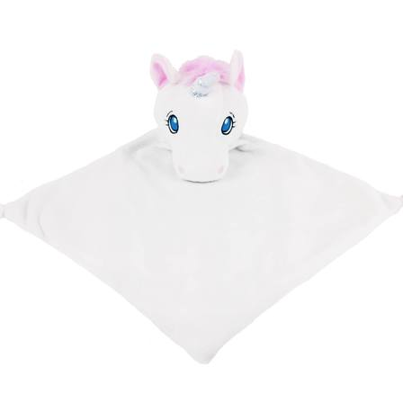 Unicorn Cuddle Blankie White
