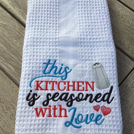 Embroidered Tea Towel - This Kitchen
