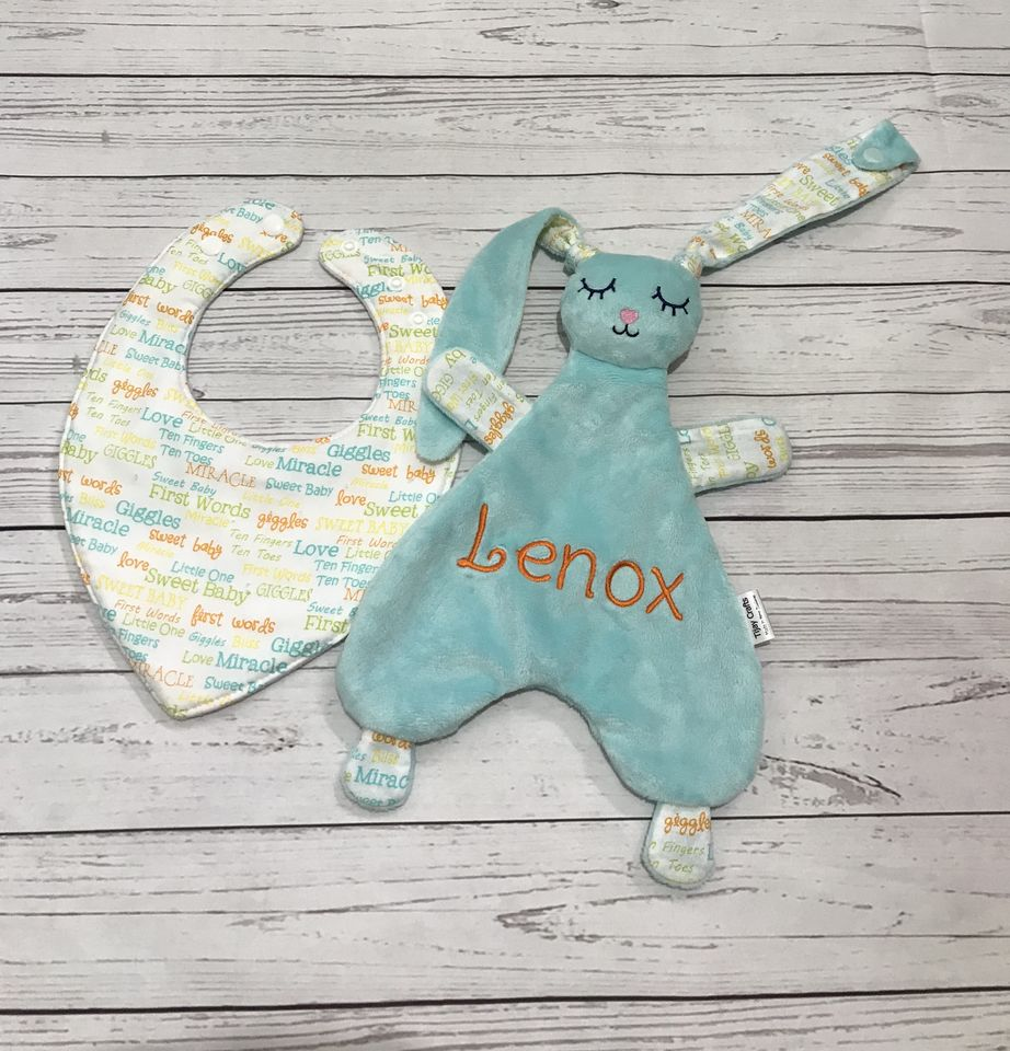 Bib and Snuggly with name